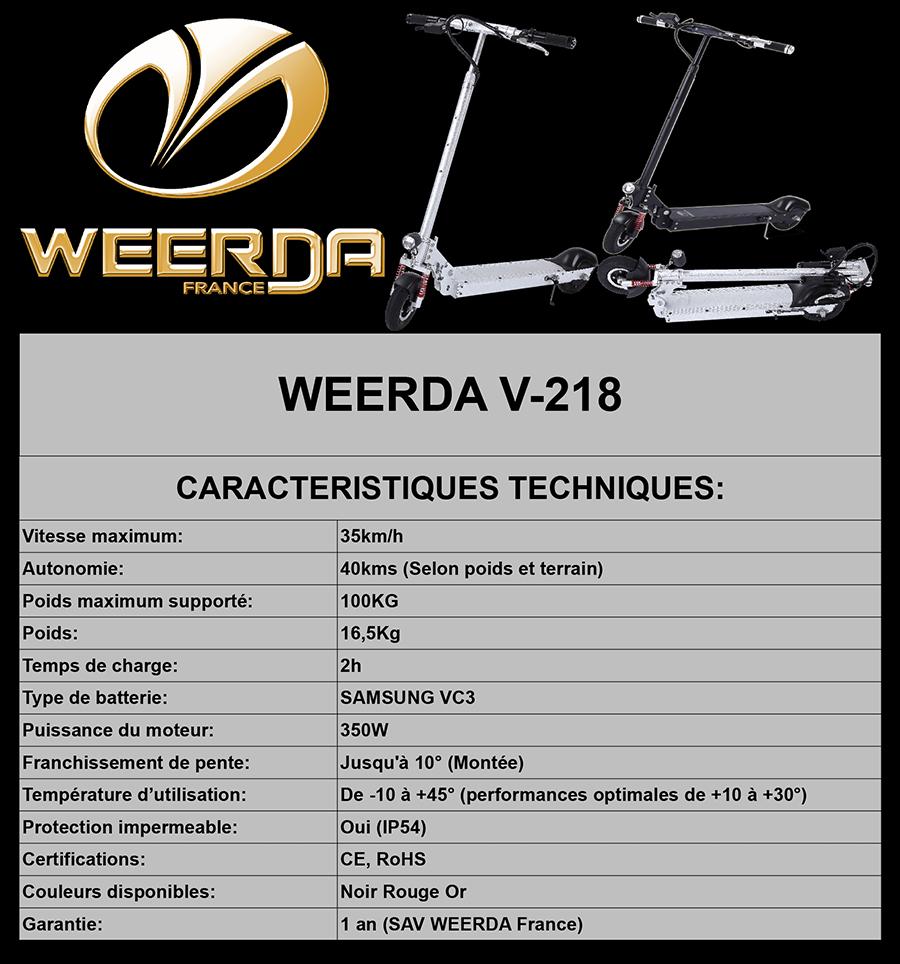 Fiche Technique WEERDA V-218