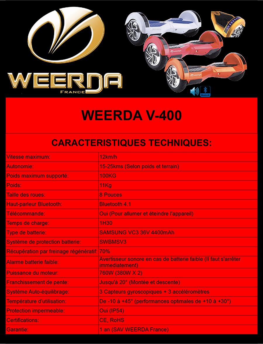 Fiche Technique WEERDA V-400