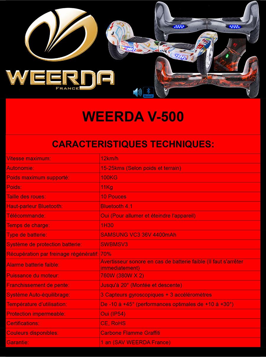 Fiche Technique WEERDA V-500
